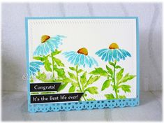 Blue Cone Flowers by frenziedstamper - Cards and Paper Crafts at Splitcoaststampers