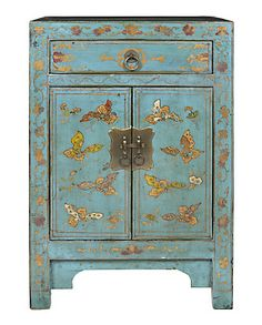 Blue asian cabinet- perfect for my girls' room