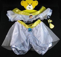 BUILD-A-BEAR DISNEY PRINCESS JASMINE COSTUME 6PC w SLIPPERS TEDDY CLOTHES OUTFIT