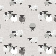 Featuring a charming and contemporary sheep print in a cool grey colourway, this 100% cotton fabric is available by the metre.Because our fabric by the metre is cut to the size you require, we can only accept returns if the item is faulty (i.e. damaged or marked).