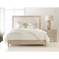 Modern History Home Maui Upholstered Standard Bed Size: King Maui, King Beds, Queen Beds, Bedroom Bed, Bedroom Decor, Bedroom Ideas, Bedroom Frames, Bedroom Interiors, Master Bedrooms