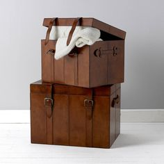 leather trunk by life of riley | notonthehighstreet.com