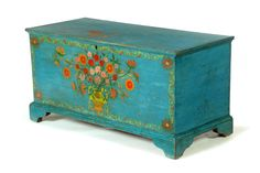 DECORATED BLANKET CHEST....