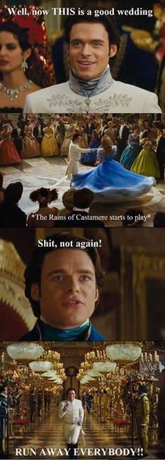 Spoilers] Richard Madden (Robb Stark) in the Cinderella movie. How it is really gonna be. Richard Madden (Robb Stark) in the Cinderella movie. How it is really gonna be.Richard Madden (Robb Stark) in the Cinderella movie. How it is really gonna be. Richard Madden, Game Of Thrones Meme, Tyron Lannister, Game Of Throne Lustig, Humour Geek, Funny Humour, Cinderella Movie, Got Memes, My Sun And Stars