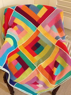 Ravelry: mitali's Crochet log cabin afghan