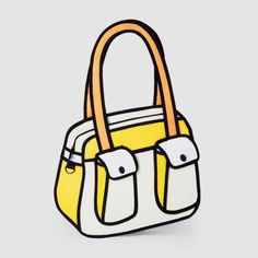 JumpFromPaper™ is a playful and innovative line of handbags. Cartoon-like outlines, bright and vibrant colors will be sure to turn heads and be the talk of the town. Are they real? Yes they're real. $99.00