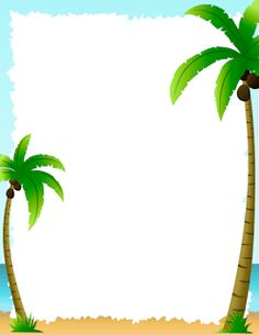 Free palm tree border templates including printable border paper and clip art versions. File formats include GIF, JPG, PDF, and PNG. Page Borders Free, Page Borders Design, Page Boarders, Boarders And Frames, Scrapbook Frames, Scrapbook Borders, Printable Border, Printable Labels, Printables