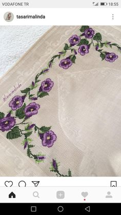 This post was discovered by Emine YILMAZ. Discover (and save!) your own Posts on Unirazi. Ribbon Embroidery, Cross Stitch Embroidery, Embroidery Patterns, Knitting Patterns, Cross Stitch Pillow, Cross Stitch Charts, Cross Stitch Patterns, Palestinian Embroidery, Prayer Rug