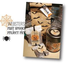 Halloween tags and bags.  from Pinefeather.  Love it