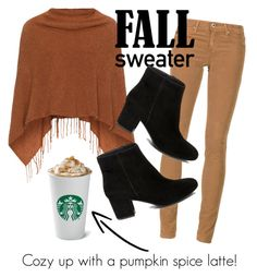 """""""Cozy up: fall sweater"""" by prim14 ❤ liked on Polyvore featuring Samoon, AG Adriano Goldschmied and Steve Madden"""