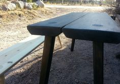 Tuomaala- tables and benches for sale in workshop and netshop. Want one? Visit our webpaige or come to Hausjärvi.