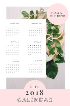 Bullet Journal 2018 Calendar - Free Printable - Empowering Women Now Business Inspiration, Bullet Journal Inspiration, Journal Ideas, Bullet Journal June, Bullet Journals, All You Need Is, Hand Drawn Fonts, 1000 Life Hacks, Bubble Balloons