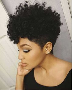 20 Short Curly Hairstyles for Black Women | http://www.short-haircut.com/20-short-curly-hairstyles-for-black-women.html