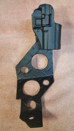 Blackhawk Serpa holster on a Blade Tech tek lok mounted on jeep pistol mount (passenger side)