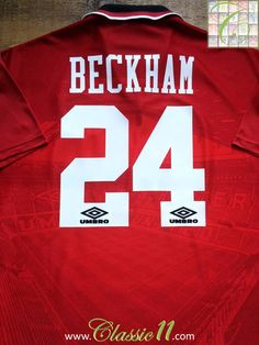 0bacb8b9b8f Relive David Beckham s 1995 1996 season with this vintage Umbro Manchester  United home football shirt