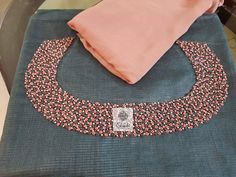 Whatsapp on 9496803123 for customising handwork n cutwork dresses and sarees Embroidery On Kurtis, Hand Embroidery Dress, Kurti Embroidery Design, Embroidery Neck Designs, Embroidery Works, Hand Embroidery Stitches, Beaded Embroidery, Embroidery Fashion, Embroidery Patterns