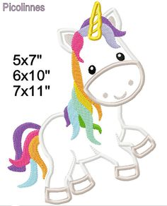 Unicorn Fairy Tale M2M fabric Machine Applique Design Embroidery Pattern 5x7 6x10 7x11 INSTANT DOWNLOAD