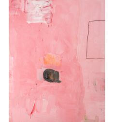 Big Pink by Gary komarin. Komarin makes no distinction between  painting and drawing; there are no preparatory  drawings for his paintings. Like Jackson Pollock  he has pushed aside the classic dichotomy in  painting between designo and colore and works  on the canvas directly.