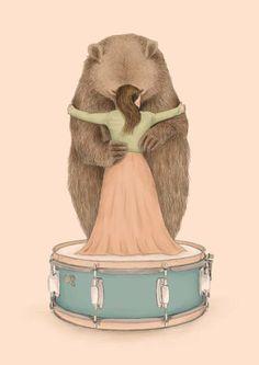 Bear Hug Illustration - Art Print / Wall Décor / Nursery Décor ★ About this print // The warm hug between a girl and her bear. Art And Illustration, Illustrations Posters, Love Bear, Big Bear, Foto Art, Bear Art, Art Graphique, Wall Art Prints, Painting