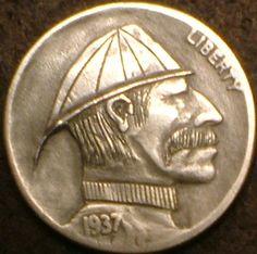 DAVID JONES HOBO NICKEL - 1937 BUFFALO PROFILE Hobo Nickel, Coins, David Jones, The Originals, Buffalo, Photograph, Profile, Photography, User Profile