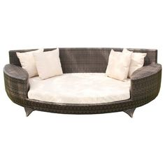 love sofa day bed brown all weather synthetic outdoor rattan garden furniture lounger wovenhill rattan