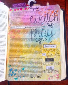 "Day 6 of the Beautiful devotional from @dayspringcards and @illustratedfaith by @valeriewieners. I took a bit of a rabbit trail with Matthew 26:41 ""Watch and pray that you may not enter into temptation. The spirit indeed is willing but the flesh is weak."" This has proven to be true time and time again in my life. Temptation is very real and can be very strong but we can fight it with the power of Christ through prayer. But we have to be watching paying attention so we can see it when it's…"