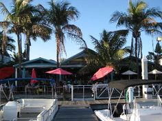 Parrot Key Caribbean Grill - arrive by boat or car! Fort Myers Beach, Florida.