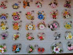 . 3d Nail Art, 3d Nails, Nail Arts, Daisy Nails, One Stroke Painting, Flower Nail Art, Little Flowers, Silhouette Cameo Projects, Crochet Doilies