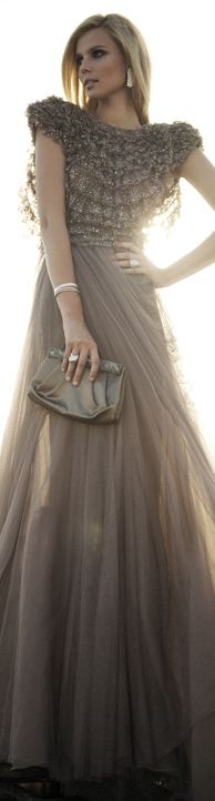 Gorgeous Evening Gown #taupe