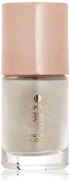 Lakmé 9 to 5 Long Wear Nail Color, Pearl Crush, 9 ml Nail Colors, Crushes, Manicure, Nail Polish, Pearls, How To Wear, Stuff To Buy, Hands, Nail Bar