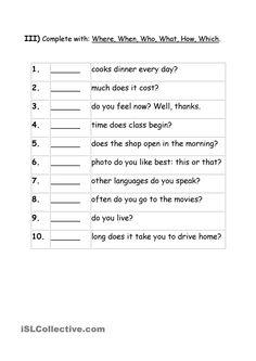 Grammar Meets Conversation: Wh-questions (3) - General Knowledge ...