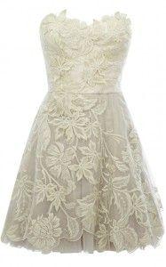 lace knee length dress