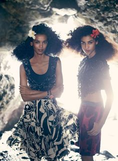 Liya Kebede & Imaan Hammam By MIkael Jansson For Vogue US January2014 - 8 Style | Sensuality Living - Anne of Carversville Women's News