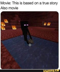 Movie: This is based on a true story Also movie - iFunny :) Gamer Humor, Gaming Memes, Stupid Funny Memes, Haha Funny, Minecraft Funny, Minecraft Stuff, Memes Estúpidos, Video Game Memes, Clean Memes