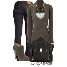 A fashion look from November 2012 featuring Nudie Jeans Co. jeans, KORS Michael Kors ankle booties and 3.1 Phillip Lim tote bags. Browse and shop related looks.