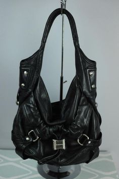 COACH Black Patent Leather Gallery Tote F12839 Silver Hardware ...