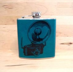 Vintage Camera Stainless Steel Hip Flask from @etsy wedding seller Whimsy & Ink