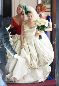 Carries Best Looks Ever Carrie Bradshaw Wedding DressVivienne Westwood DressSarah Jessica ParkerBride