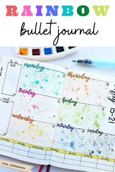 Rainbow theme bullet journal layout and spread inspiration that you need to see! These monthly theme layouts are way too gorgeous! Rainbow Facts, Rainbow Theme, Rainbow Flag, Bullet Journal Period Tracker, Bullet Journal Hacks, Bullet Journal Weekly Spread Layout, Bullet Journal Washi Tape, Bullet Journal Lettering Ideas, Monthly Themes