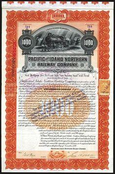 USA FLORIDA RAILWAY COMPANY GOLD BOND stock certificate 1909