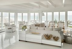#White beach house, interior design ideas