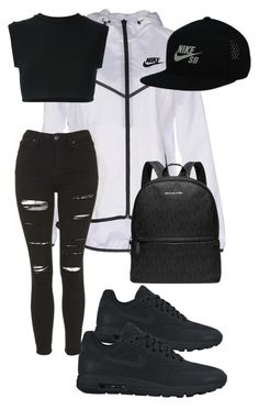"""Untitled #8"" by lelethu ❤ liked on Polyvore featuring NIKE, adidas Originals, Topshop and Michael Kors"