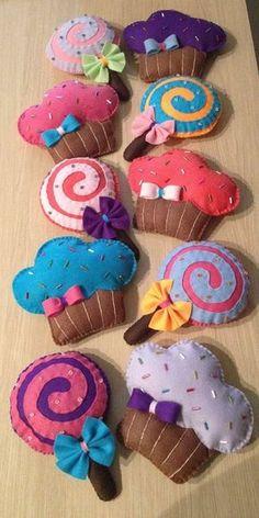 Flor de Liz Acessórios: Molde Pirulito, Donut's e Cupcake de Feltro