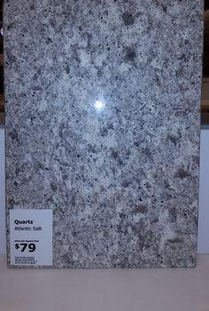 Atlantic salt quartz countertop ikea kitchen ideas for Quartz cost per square foot