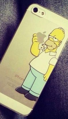 Homer iPhone case. I love the clever way it's been designed to make it look like he's taken a bite out of the Apple logo... Lol #Iphone
