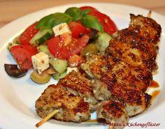 Souflaki - marinierte Fleischspießchen*****sehr gut! am Abend vorher vorbereiten und ziehen lassen.
