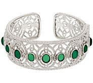 STERLING SILVER 6.35CT BOLD OVAL LIMON QUARTZ FILIGREE RING SIZE 10 QVC SOLD OUT