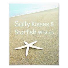 Salty Kisses & Starfish Wishes Beach Photograph. Print & Greeting Card! http://www.beachblissdesigns.com/2015/08/salty-kisses-starfish-wishes-beach-photo.html