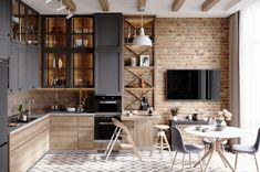 Living Room Kitchen, Home Decor Kitchen, Home Kitchens, Dining Room, Kitchen Bar Design, Interior Design Kitchen, Kitchen Designs, Sr1, Minimalist Kitchen