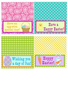 Free printable Easter treat toppers